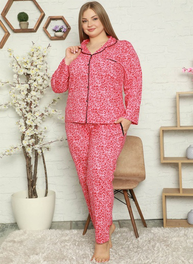 Akbeniz Pijama Takım Mercan